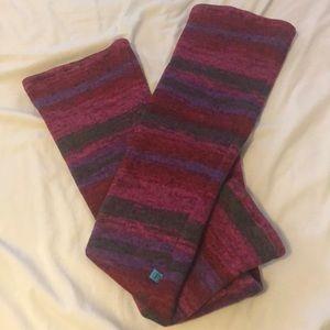 Ballet striped Knit fleece lined leg warmers